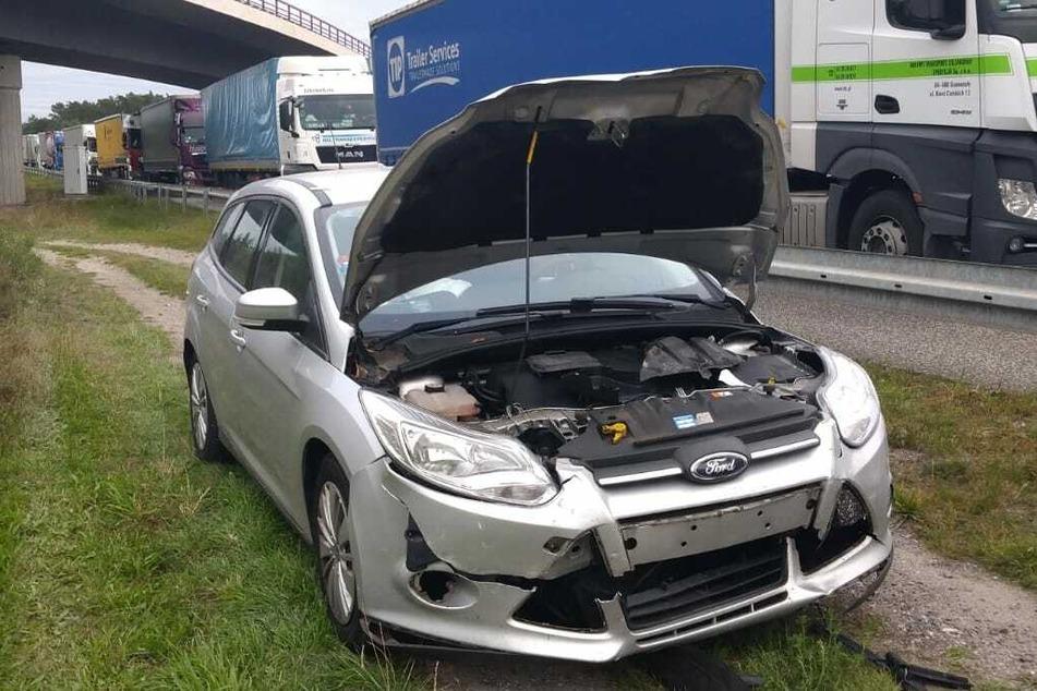 Am Autobahndreieck Spreeau hat es am Dienstagnachmittag zweimal gekracht.