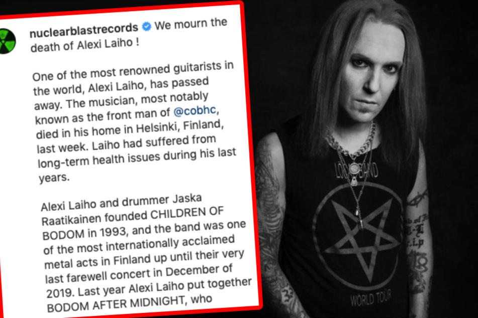 Mit folgendem Statement gab Plattenlabel Nuclear Plast am Montag den Tod von Alexi Laiho bekannt.