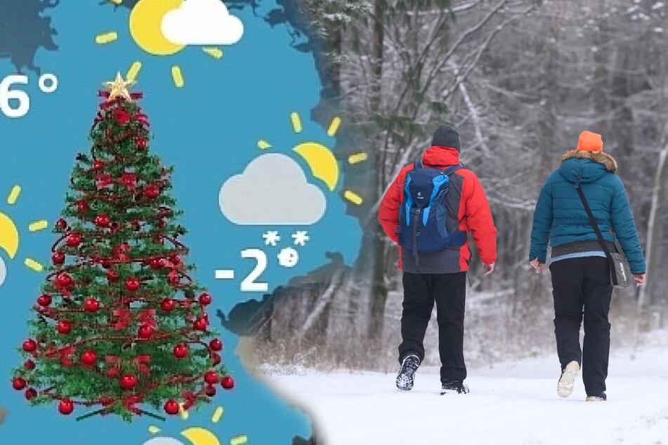 Weihnachtswetter in Sachsen: Erst Frühling, dann Winter, doch gibt's auch Schnee?