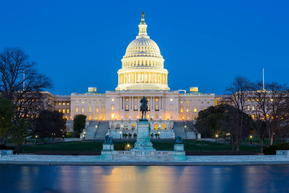 The Capitol in Washington DC, home of the Senate and the House of Representatives. (Stock image).