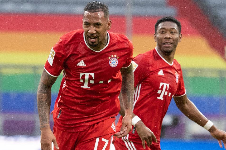 Jérôme Boateng (32, l.) und David Alaba (28) werden den FC Bayern München im Sommer wohl verlassen - und das ohne Gegenwert.