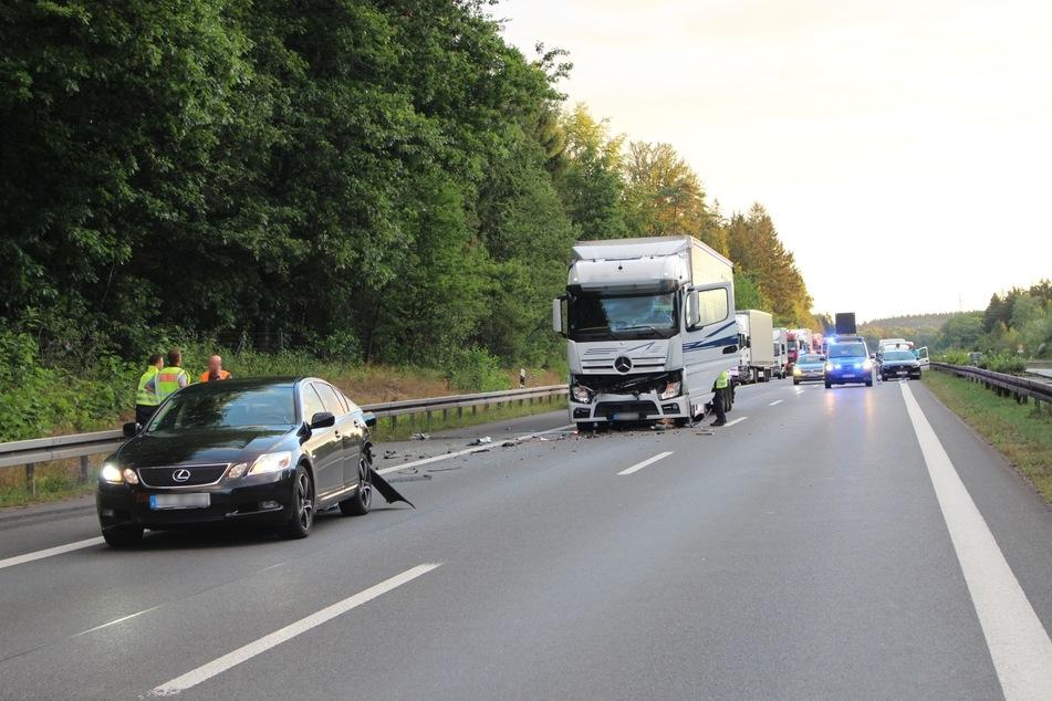 Am Donnerstagmorgen gab es auf der A72 einen Unfall.