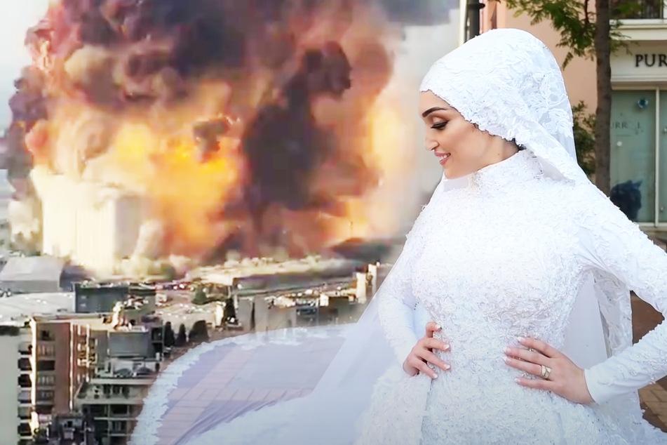 Krasses Video aus Beirut: Braut wird gerade fotografiert, als es zur Explosion kam