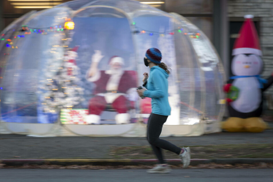 Christmas during a pandemic has led to some innovative solutions, such as Seattle's bubble Santa.