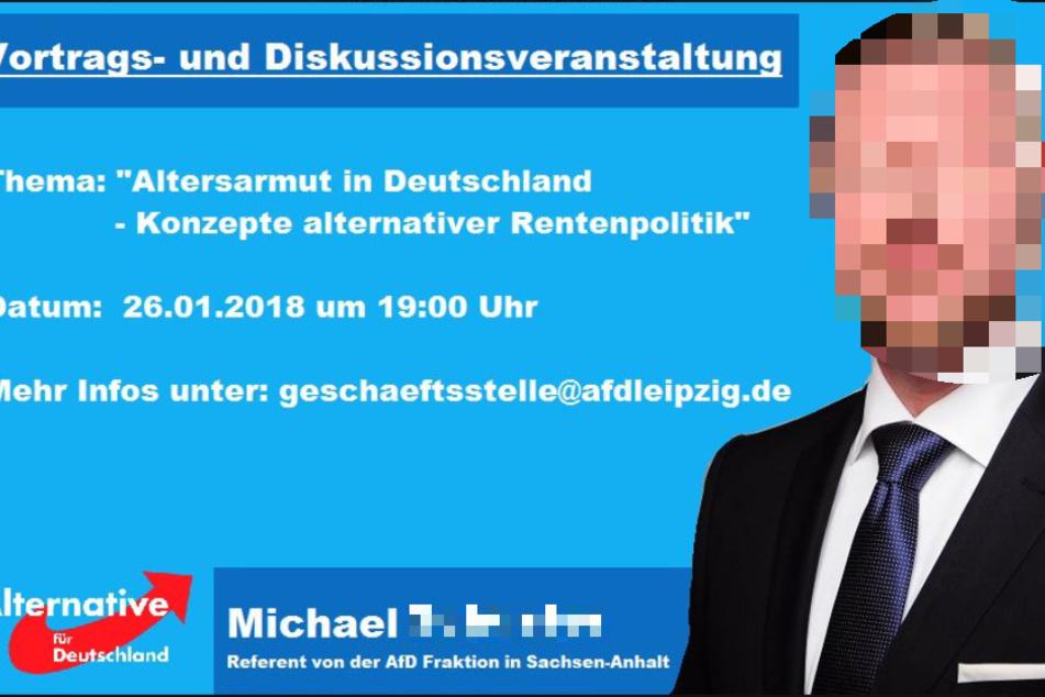 """Nach den """"Rassenkrieg""""-Plänen war Michael S. auch bei der Leipziger AfD gern gesehener Redner."""