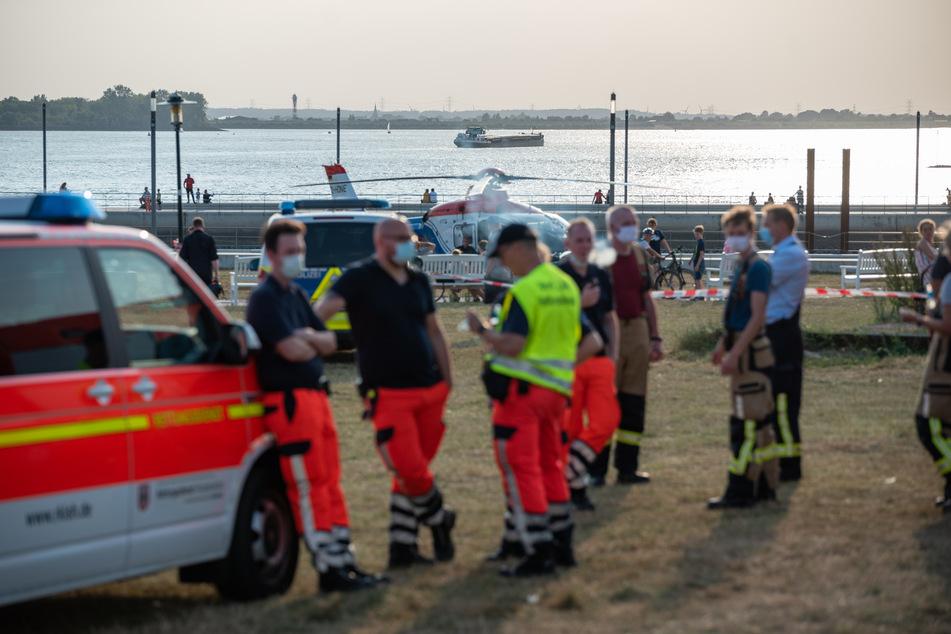Schwimmer geht in Elbe unter: Rettungskräfte brechen Suche ab