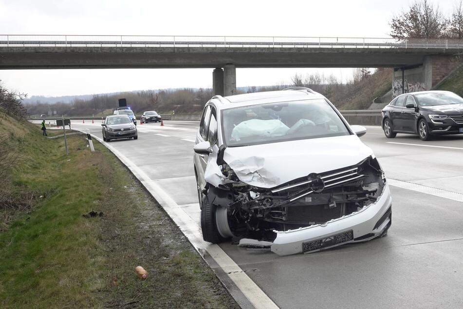 Unfall auf A72 mit mehreren Verletzten: Rettungshubschrauber im Einsatz