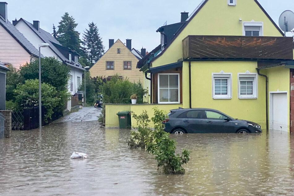 Zu den besonders stark getroffenen Gemeinden gehörte den Angaben zufolge Selbitz im Landkreis Hof.