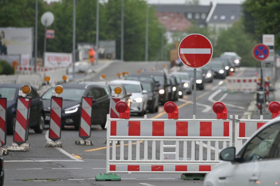 Baustellen Chemnitz: B174 wird zur Einbahnstraße: Diese neuen Baustellen gibt es ab Montag in Chemnitz