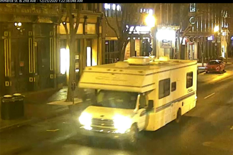 Authorities released traffic camera stills that show the arrival of the RV in the area at 1:22 AM.