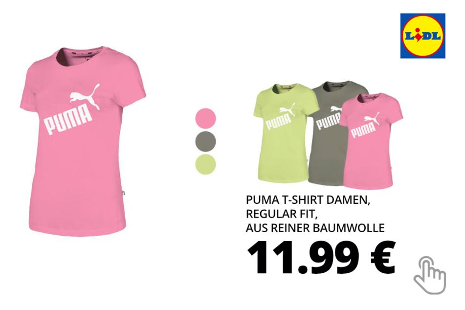 Puma T-Shirt Damen, Regular Fit, aus reiner Baumwolle