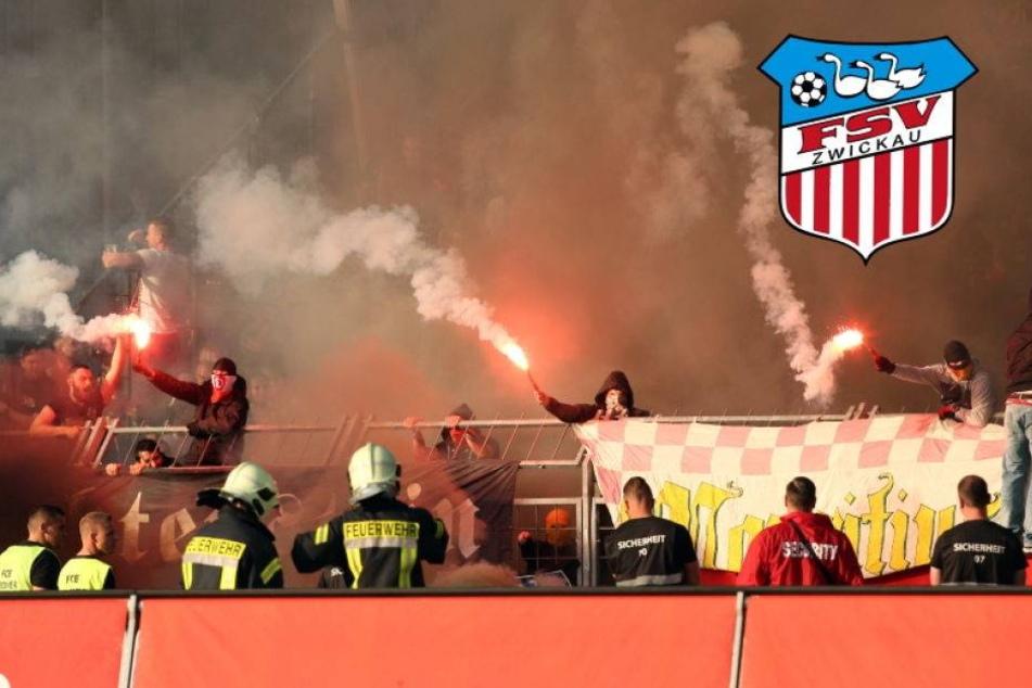 FSV schmeißt Pyro-Idioten aus dem Stadion!