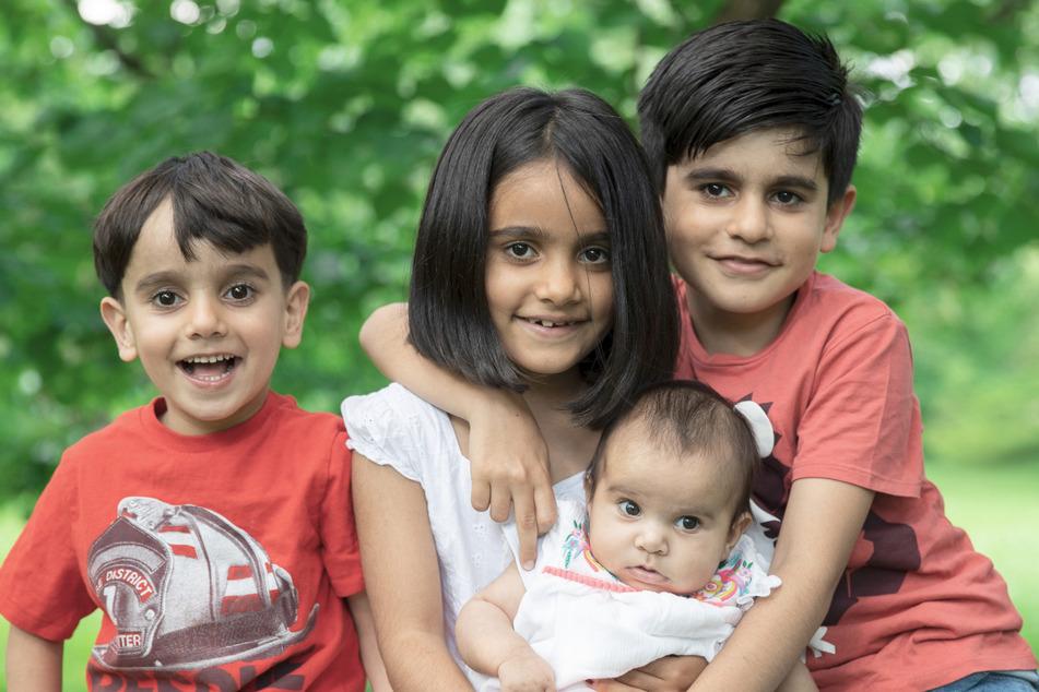 Die Kinder Muhamad (11), Mansa (10), Mubin (7) und Maria (2) haben sich in Deutschland eingelebt.