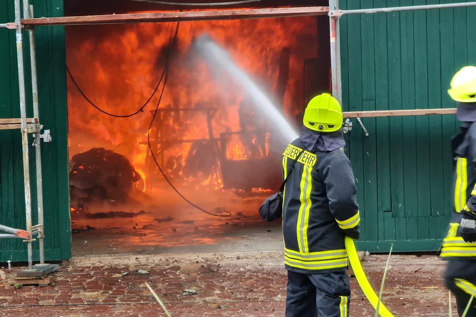 Blick in die Flammenhölle - nach Angaben der Polizei entstand ein Schaden von mehreren Hunderttausend Euro.
