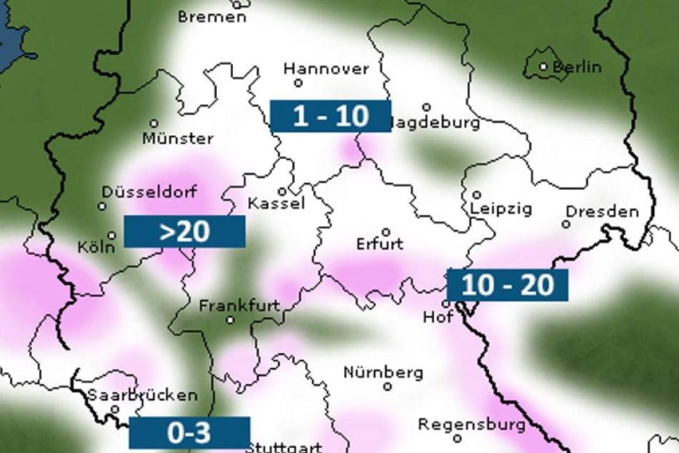 Jetzt fliegt eine Schneefront auf Sachsen zu