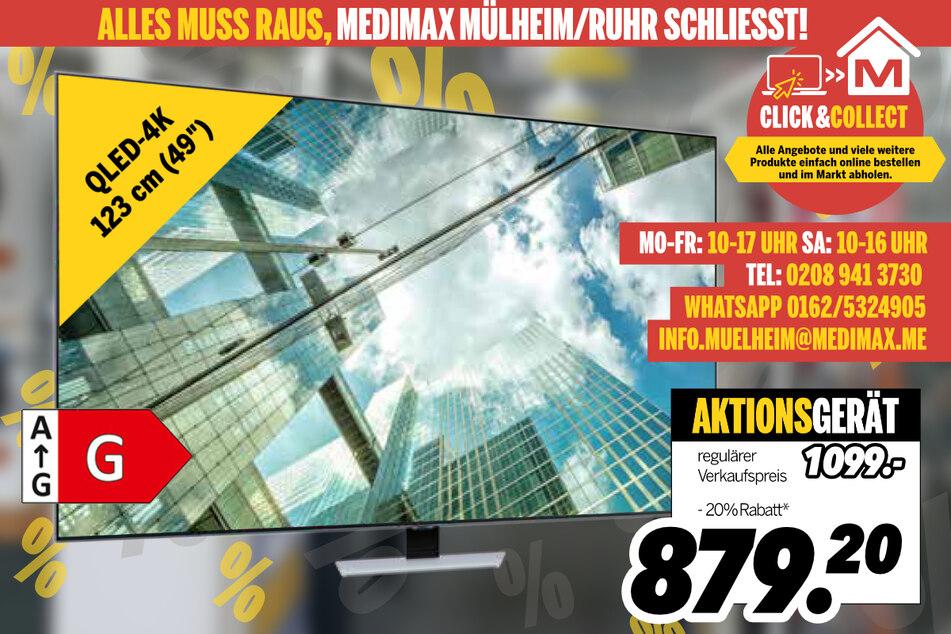 QLED-TV von Samsung für 879,20 Euro