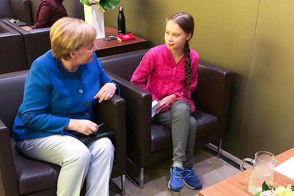 Bundeskanzlerin Angela Merkel (66, CDU) trifft sich mit der Klimaaktivistin Greta Thunberg.