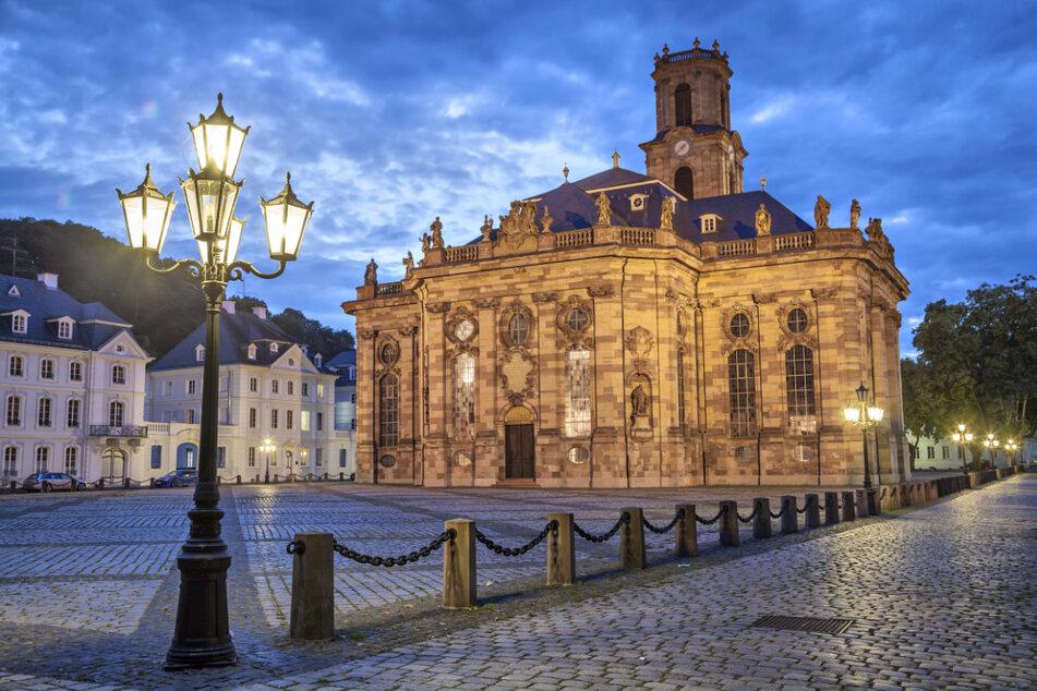 Die Ludwigskirche im Saarbrücker Stadtteil Alt-Saarbrücken, eine evangelische Kirche im Barockstil.