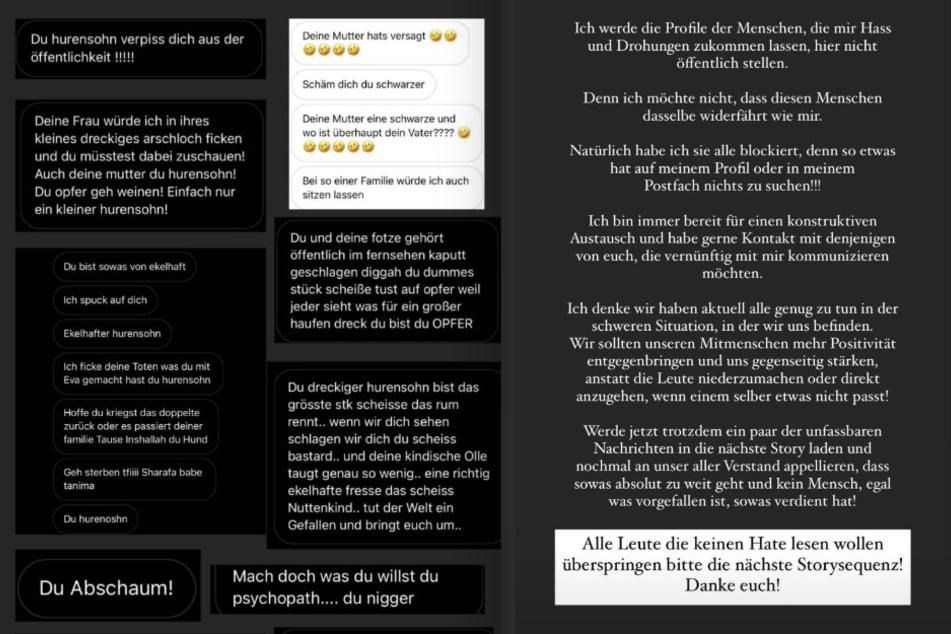 Andrej Mongold (33) hat in einer Instagram-Story Hass-Nachrichten gegen ihn veröffentlicht. (Fotomontage)