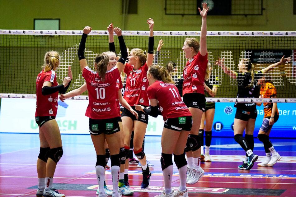 Zum Abschluss ihres Stressprogrammes mit drei Spielen in vier Tagen feierten die DSC-Schmetterlinge in Aachen einen 3:0-Sieg.