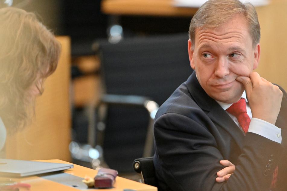 Thüringens SPD-Chef Matthias Hey (51) ist für eine Auflösung des Thüringer Landtags. Dafür braucht es aber genügend Stimmen.