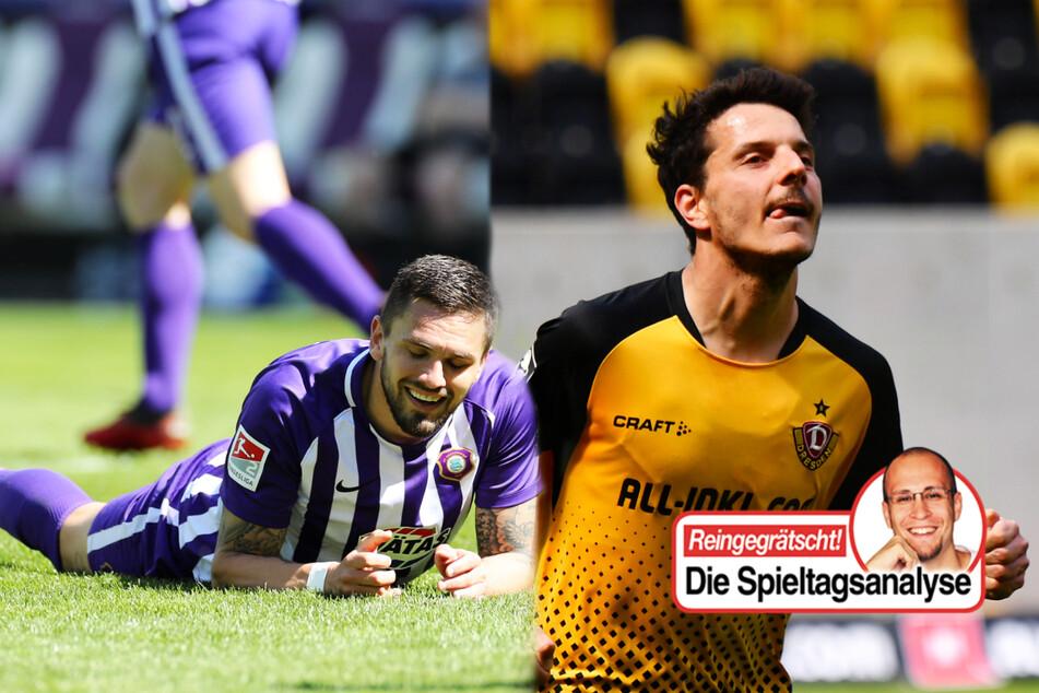 Dynamo dicht vorm Aufstieg, Aue mit krasser Packung, FSV, HFC und FCM gerettet!