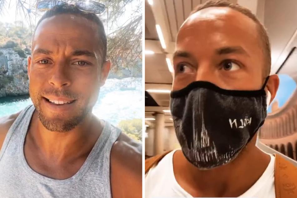 Andrej Mangold (33) berichtet bei Instagram von seinem Mallorca-Rückzug. (Fotomontage)