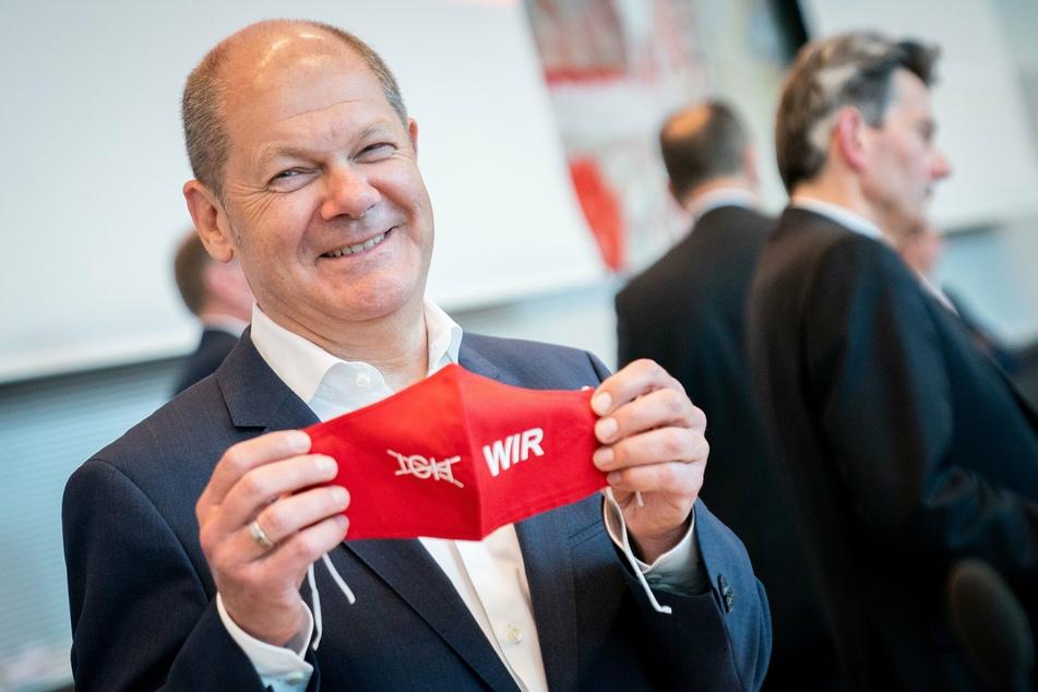 Olaf Scholz (SPD), Bundesminister der Finanzen, hat derzeit allerhand zu tun, aber auch zu lachen.