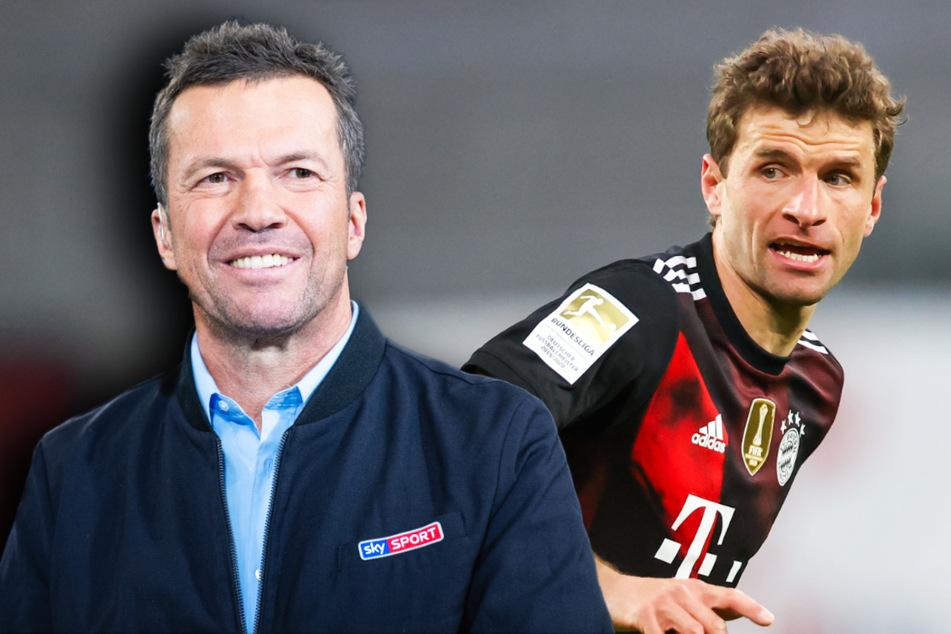 TV-Experte Lothar Matthäus (60, l.) hofft auf eine Rückkehr von Offensivspieler Thomas Müller (31) in die deutsche Nationalelf.