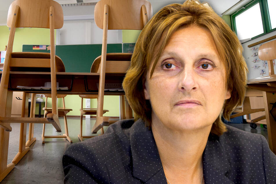 Bildungsministerin Britta Ernst (59, SPD) will Brandenburgs Grundschulen am 22. Februar öffnen (Bildmontage).