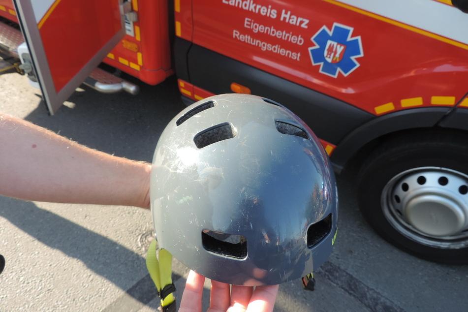 Der Neunjährige trug während des Unfalls einen Helm.