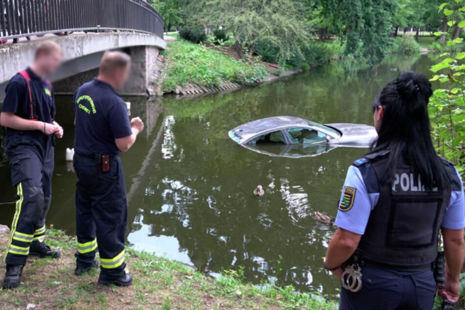 Die Feuerwehr prüfte das Wasser und konnte Entwarnung geben.