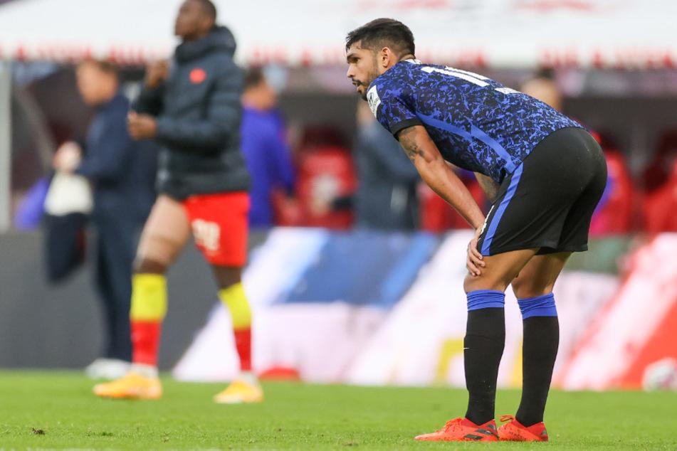 Herthas Omar Alderete feierte gegen RB Leipzig sein Bundesliga-Debüt.