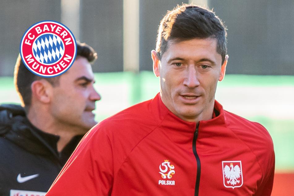 Lewandowski im Mannschaftstraining: Zwei weitere Bayern-Stars zurück