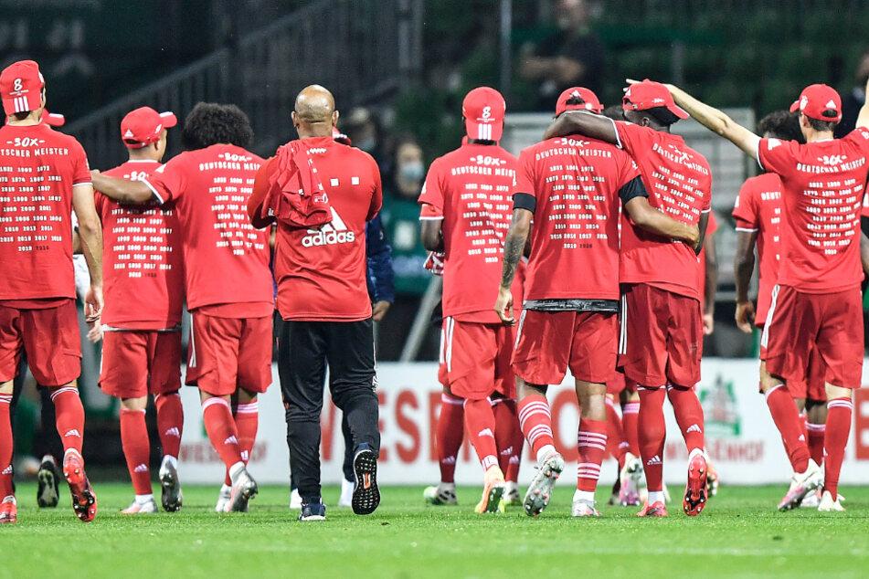 Der FC Bayern feiert die achte Meisterschaft in Folge.