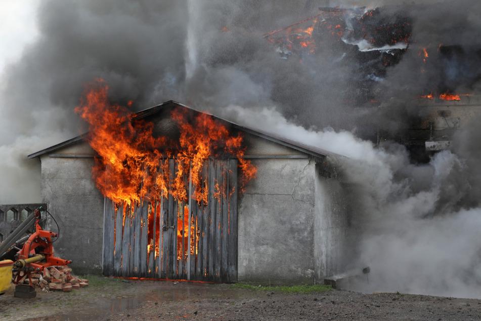 Lichterloh brannte damals die Scheune, die gerade umgebaut wurde.