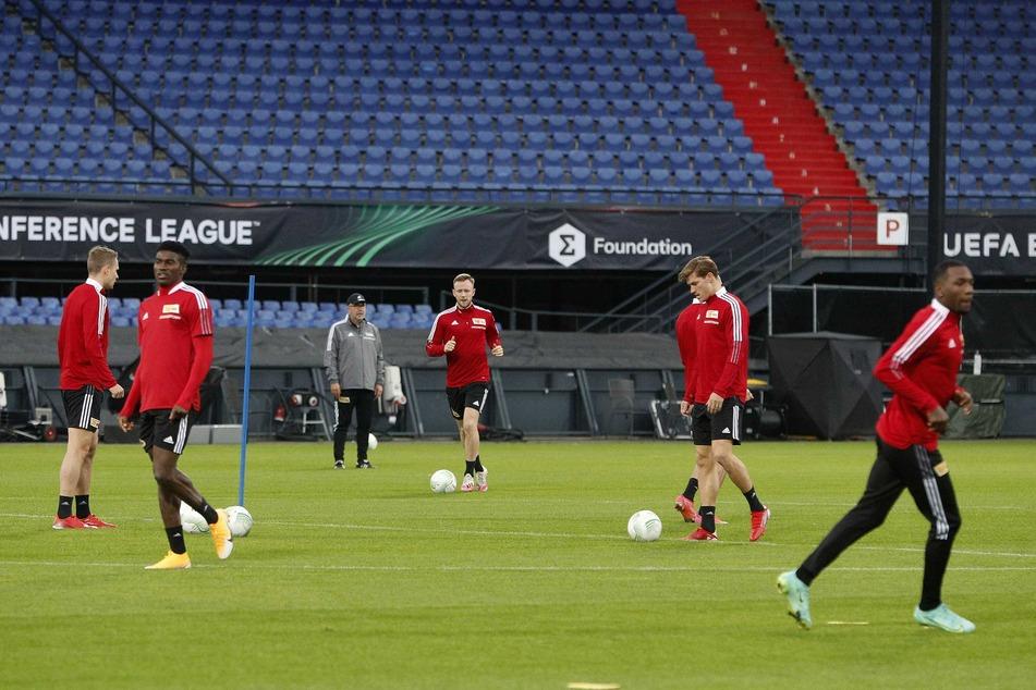 Die Unioner in einer Trainingseinheit in Rotterdam.