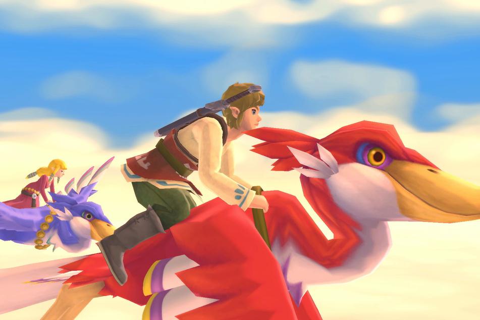 """In all den Jahren hat Held Link fast schon jedes Fortbewegungsmittel ausprobiert. In """"Skyward Sword"""" schwebt Ihr per Wolkenvogel durch die Lüfte."""