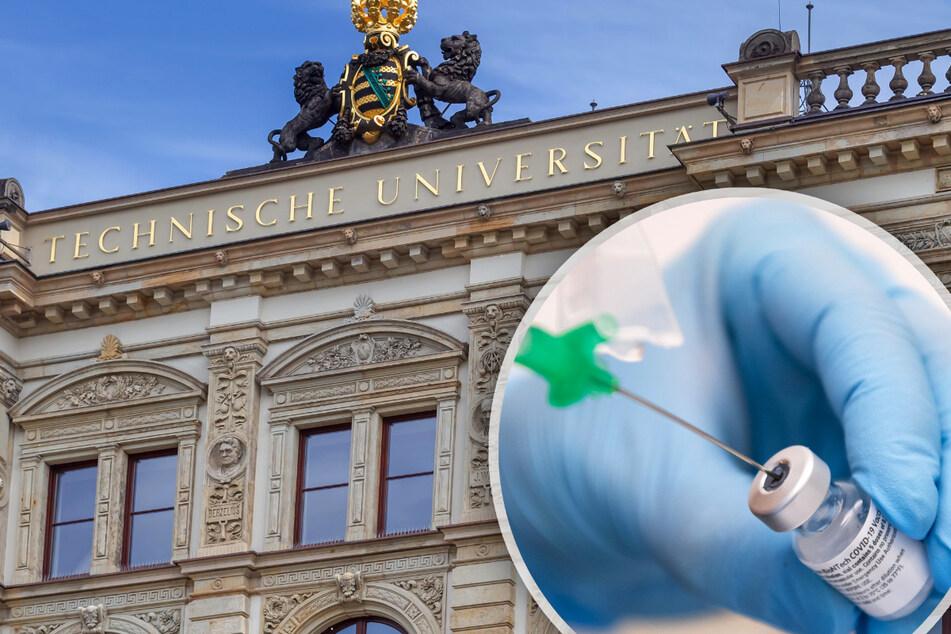 """""""Bitte einmal den Arm freimachen"""", heißt an der TU Chemnitz. Ab Montag können sich nun alle Impfwilligen einen Termin holen."""