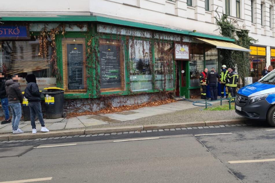 """Im Restaurant """"Shams"""" in Leipzig ist es am Samstag zu einem Brand gekommen."""