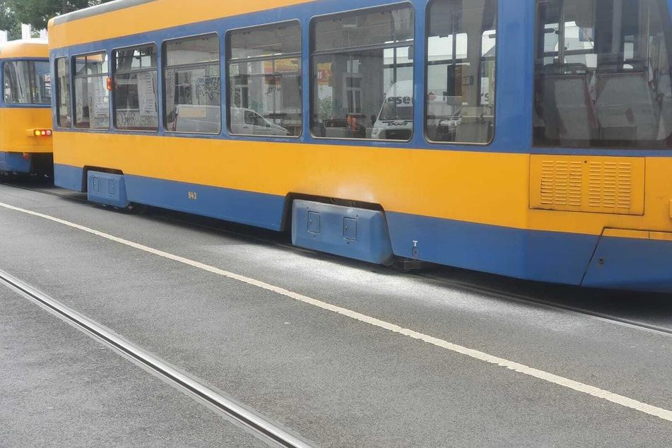 Ein Feuerlöscher kam an der Tram zum Einsatz.
