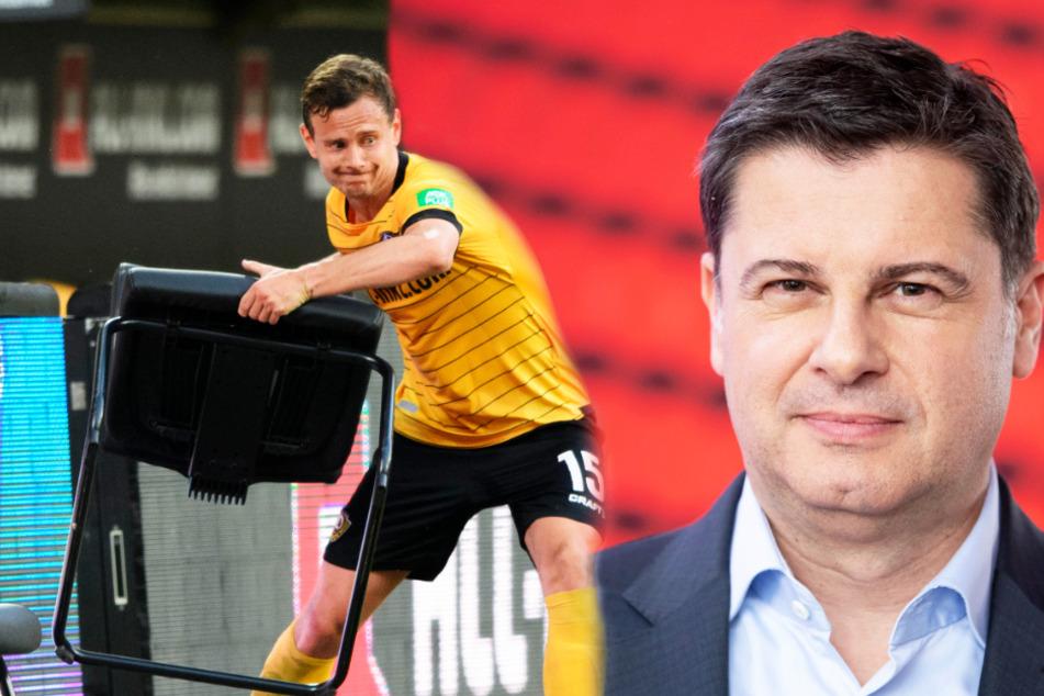DFB-Geschäftsführer Christian Seifert (r.) kann den Frust von Chris Löwe gut verstehen.