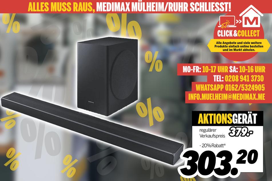 Soundbar von Samsung für 303,20 Euro