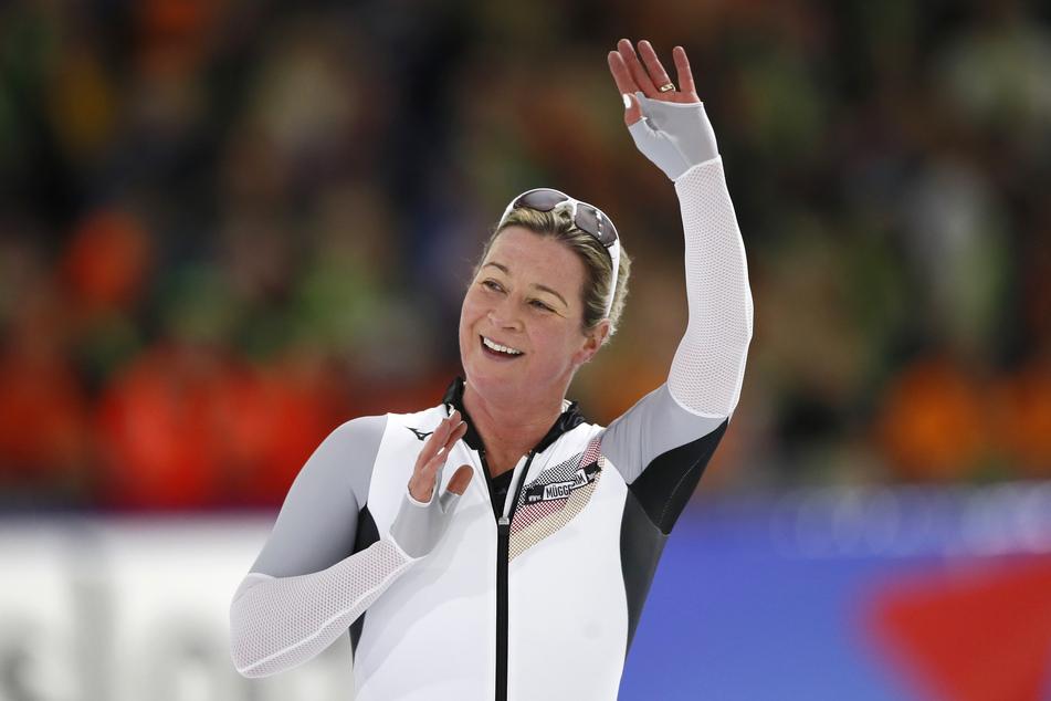Eisschnelllauf-Legende Claudia Pechstein. Ihr Mann hat für das seit November 2019 vakante Präsidenten-Amt eine Bewerbungen abgegeben.