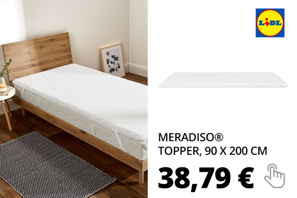 MERADISO® Topper, 90 x 200 cm, Kern aus Viscoschaum