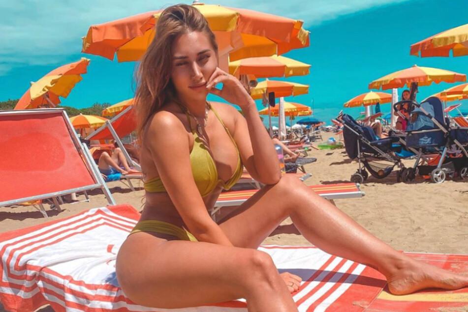 Samira Klampfl genießt die Sonne Italiens.