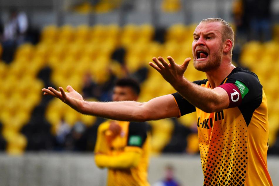 Dynamo-Kapitän Sebastian Mai fand nach dem Sieg gegen Meppen klare und selbstbewusste Worte.