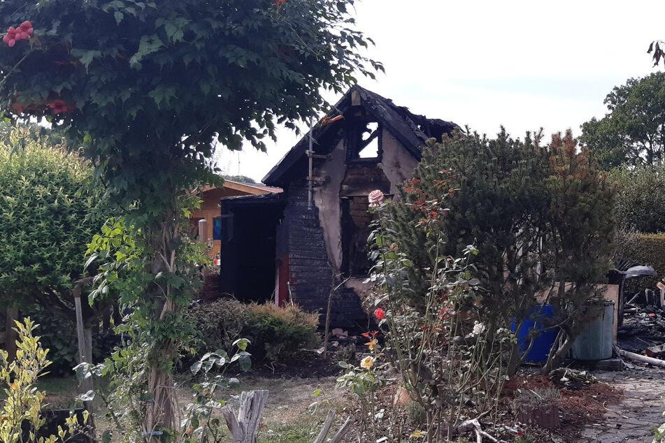 Gartenlaube brennt nieder: Leipziger Kripo vermutet Brandstiftung