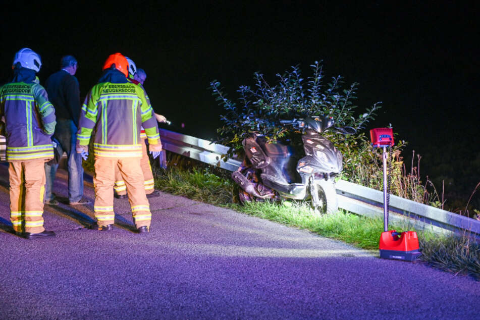 Der Krad-Fahrer fuhr gegen die Leitplanke und verletzte sich.