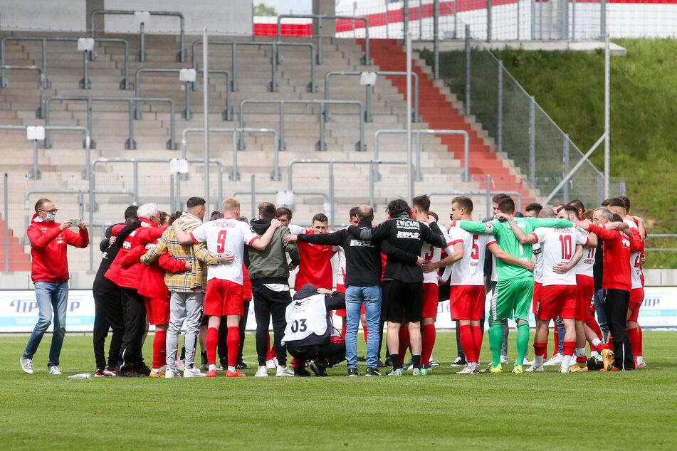 Jubel nach dem 2:0-Sieg gegen den 1. FC Saarbrücken am Samstag.